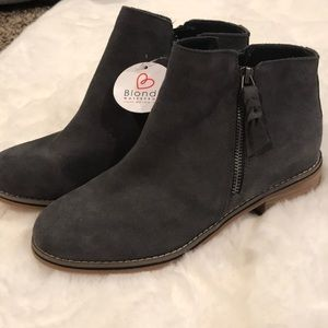 Blondo Gray Leather Boots, NWT